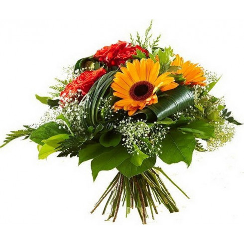 A67 MIXED BOUQUET OF GERBERA AND ROSES