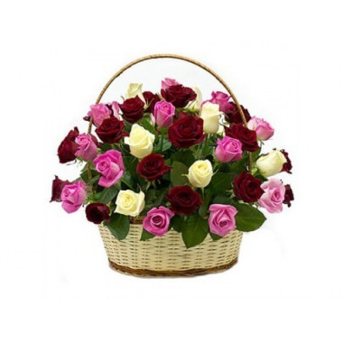 K21 BASKET OF MIX ROSES