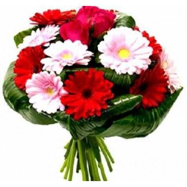 A73 MIXED BOUQUET WITH GERBERAS AND ROSES