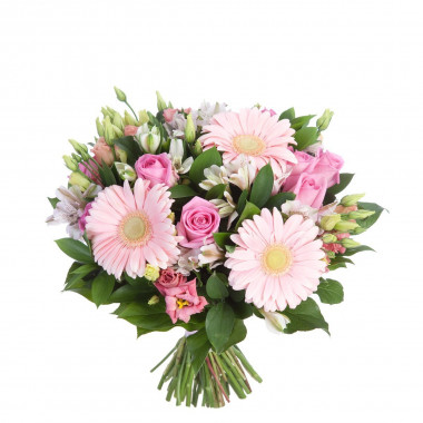 A23 MIXED BOUQUET WITH GERBERAS AND ROSES