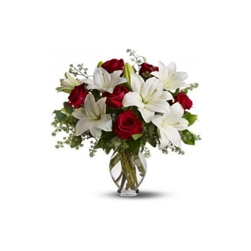 A78 MIXED BOUQUET OF LILY AND ROSE