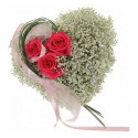 S8 FLOWER ARRANGEMENT HEART OS GYPS AND ROSE