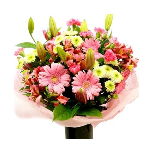 A68 MIXED BOUQUET OF GERBERA AND LILY