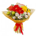 A76 MIXED BOUQUET OF GERBERA,ROSE AND CHRYSANTHEMUM