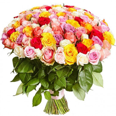 A5 BOUQUET OF 101 MIX ROSES  50 sm