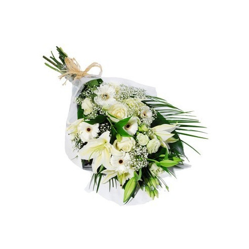 A63 MIXED BOUQUET OF ROSES, LILIES AND GERBERAS