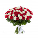 A13 BOUQUET WITH RED AND WHITE ROSES