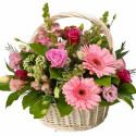 K9 FLOWER BASKET WITH MIXED FLOWERS