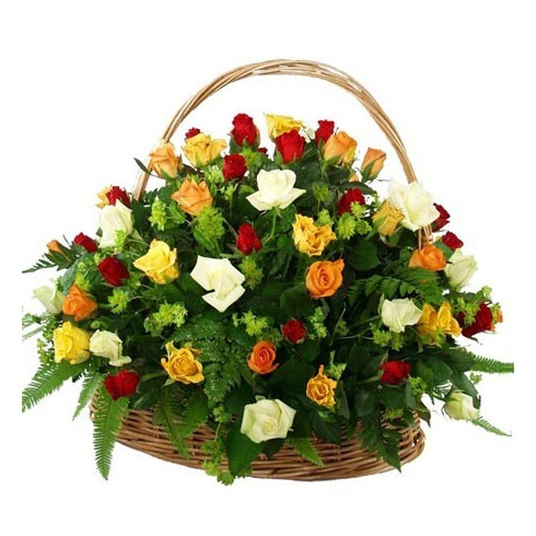 K17 MIX ROSES IN BASKET
