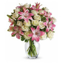 A82 MIXED BOUQUET OF ROSE AND LILY