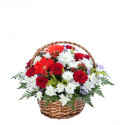 K6 FLOWER ARRANGEMENT WITH ROSES, GERBERAS AND CHRYSANTHEMUMS