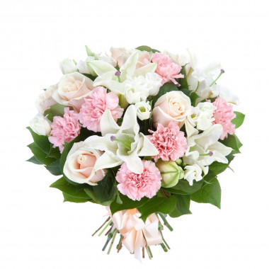 A22 MIXED BOUQUET WITH CARNATIONS, ROSES AND LILIES