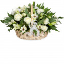 K1 FLOWER ARRANGEMENT WITH WHITE  ROSES AND LILY