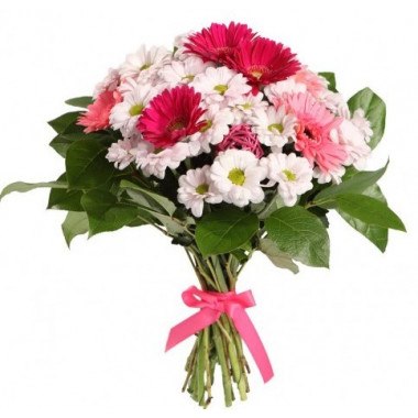 A72 MIXED BOUQUET WITH GERBERAS AND CHRYSANTHEMUMS