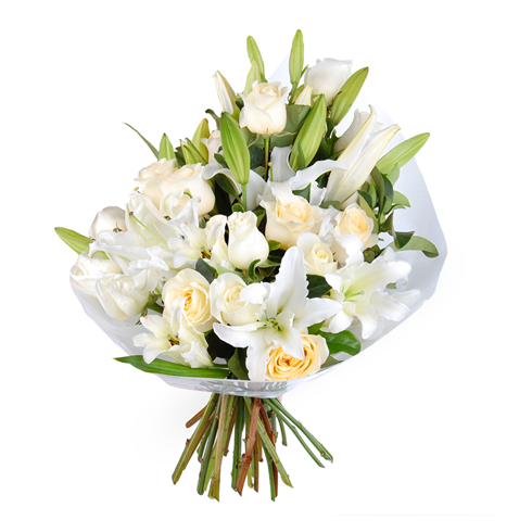 A106 MIXED BOUQUET OF LILY AND ROSE